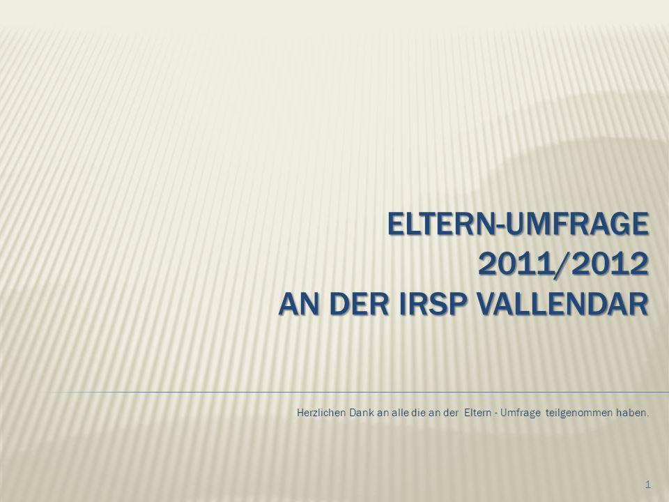 Eltern-Umfrage 2011/2012 an der IRSP Vallendar