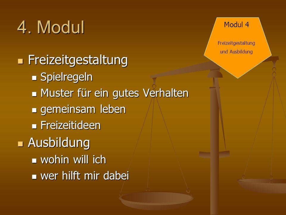 4. Modul Freizeitgestaltung Ausbildung Spielregeln