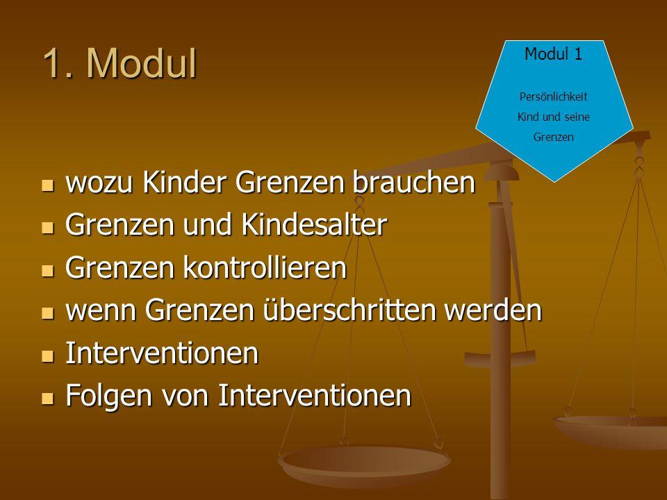 1. Modul wozu Kinder Grenzen brauchen Grenzen und Kindesalter