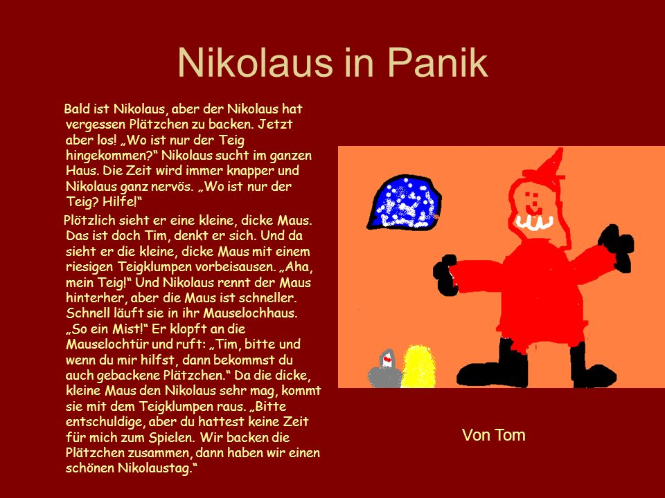 Nikolaus in Panik Von Tom