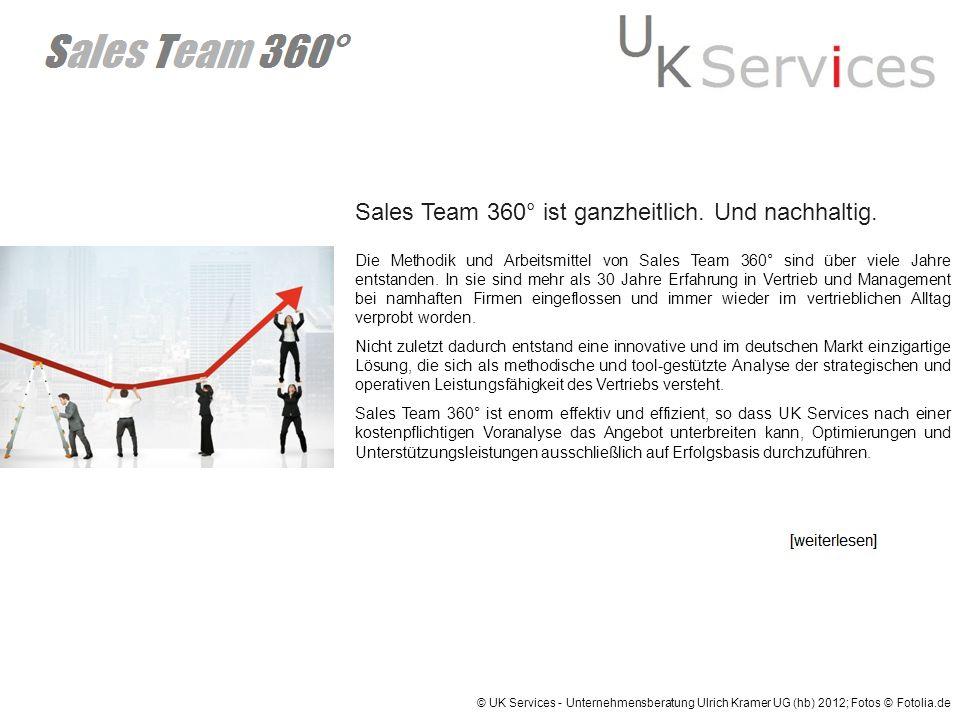 Sales Team 360° ist ganzheitlich. Und nachhaltig.