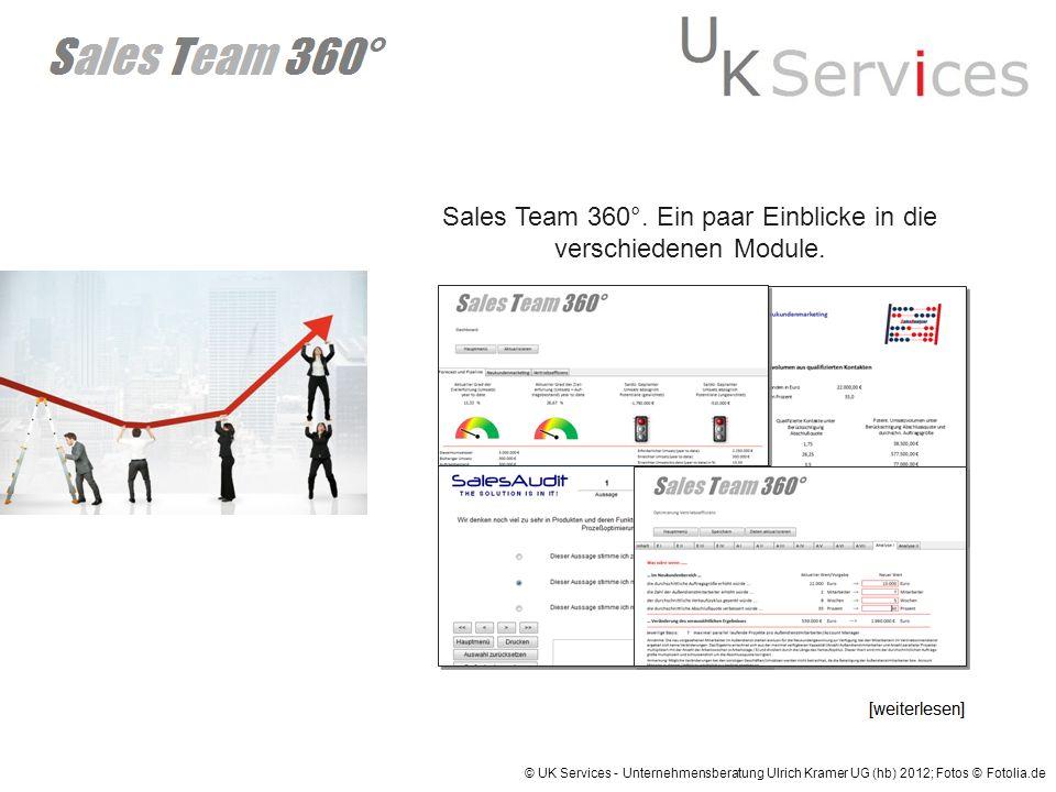 Sales Team 360°. Ein paar Einblicke in die verschiedenen Module.