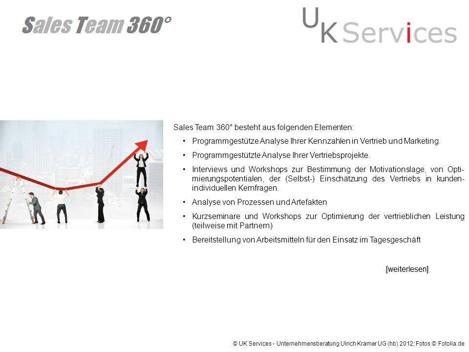 Sales Team 360° besteht aus folgenden Elementen: