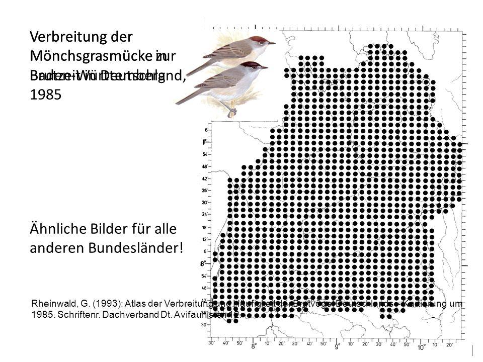 Verbreitung der Mönchsgrasmücke in Baden-Württemberg