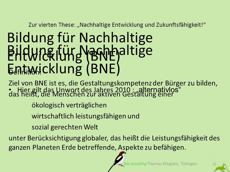 """Zur vierten These: """"Nachhaltige Entwicklung und Zukunftsfähigkeit!"""