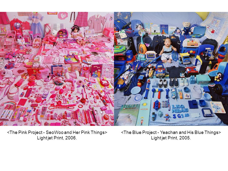 <The Pink Project - SeoWoo and Her Pink Things> Light jet Print, 2006.