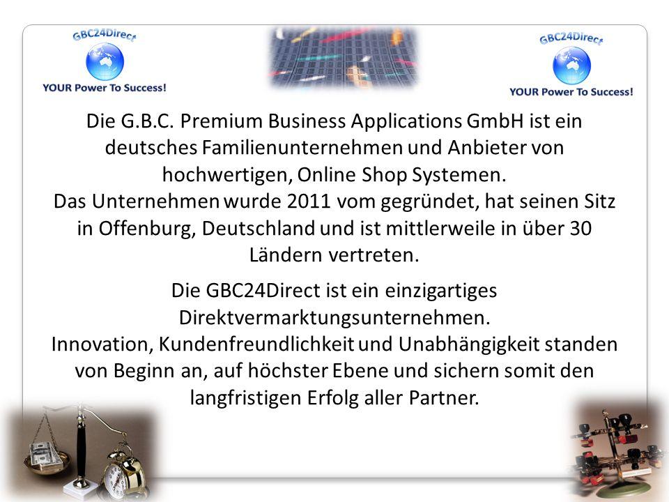 Die G.B.C. Premium Business Applications GmbH ist ein deutsches Familienunternehmen und Anbieter von hochwertigen, Online Shop Systemen.