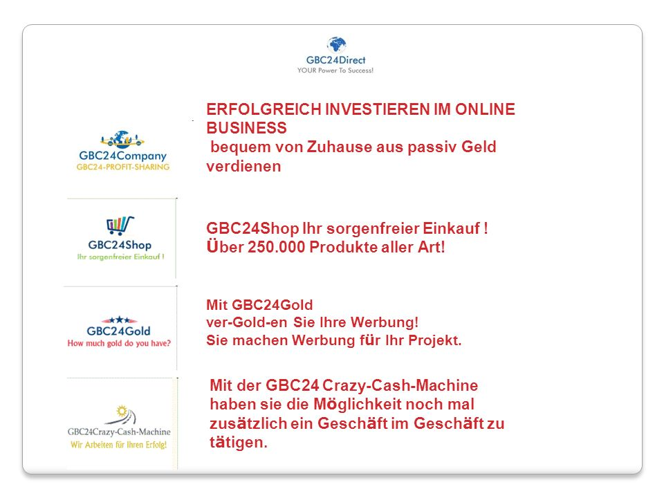 GBC24Shop Ihr sorgenfreier Einkauf ! Über 250.000 Produkte aller Art!