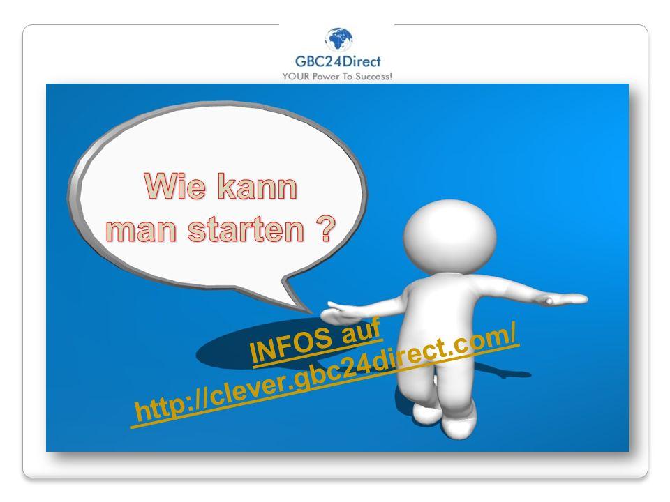 Wie kann man starten INFOS auf http://clever.gbc24direct.com/