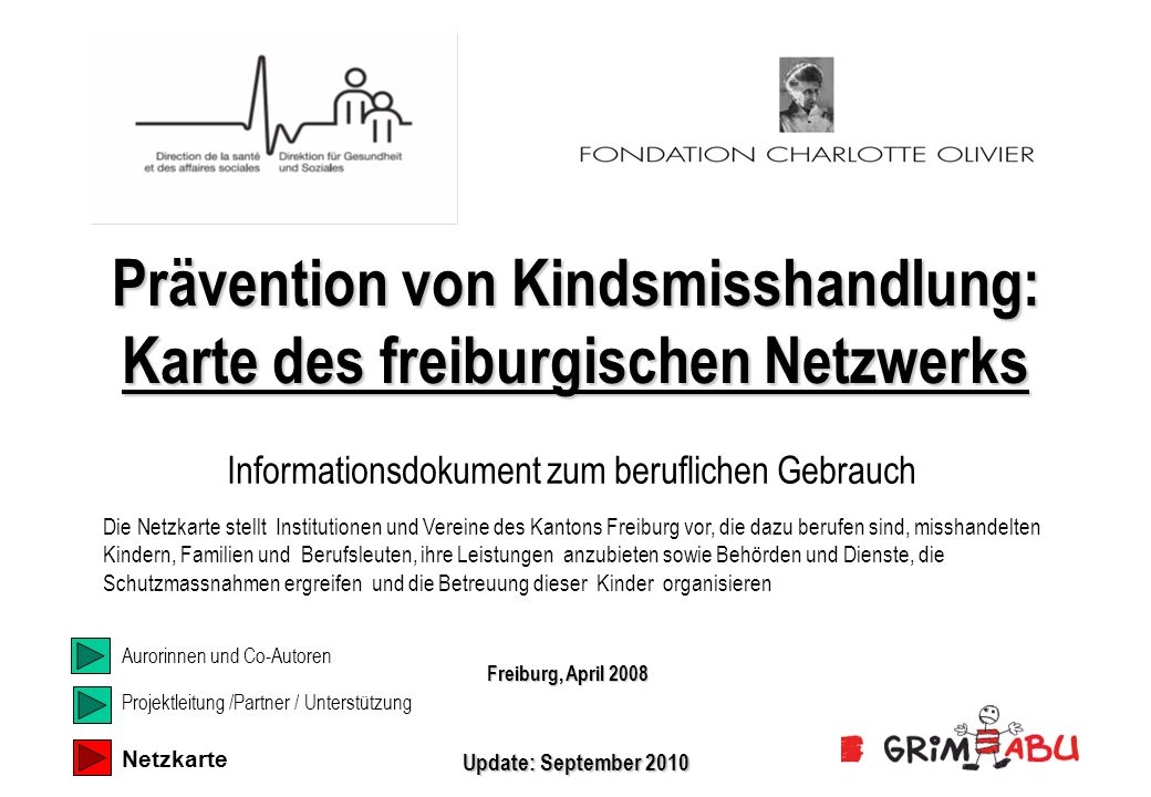 Prävention von Kindsmisshandlung: Karte des freiburgischen Netzwerks