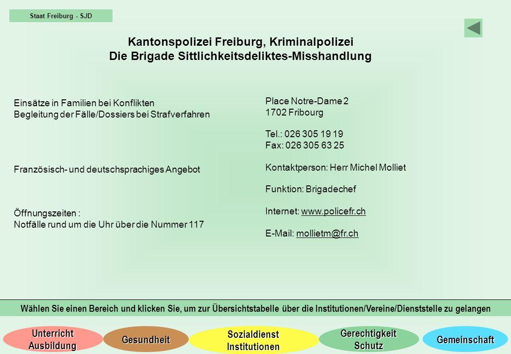 Kantonspolizei Freiburg, Kriminalpolizei