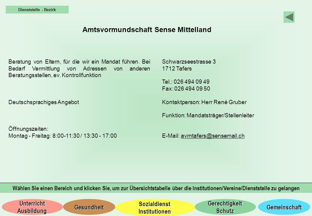 Amtsvormundschaft Sense Mittelland