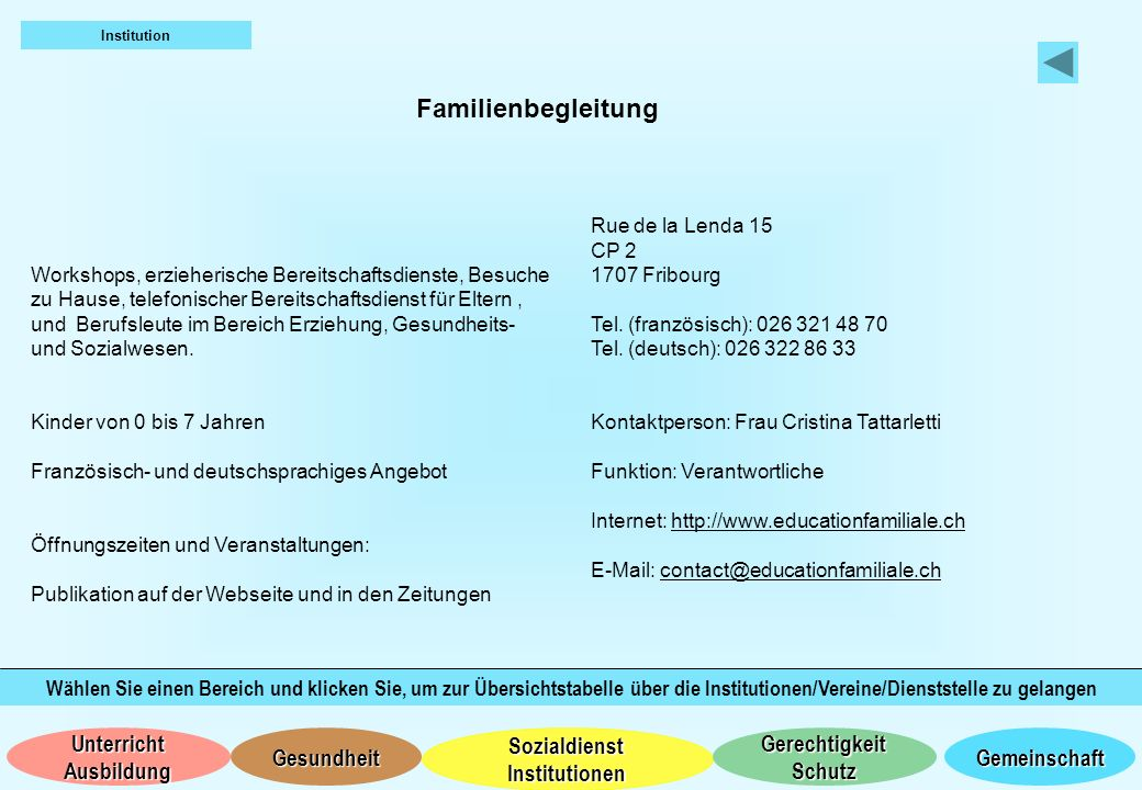 Institution Familienbegleitung.