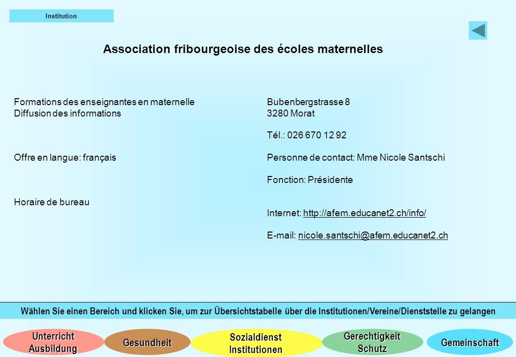 Association fribourgeoise des écoles maternelles