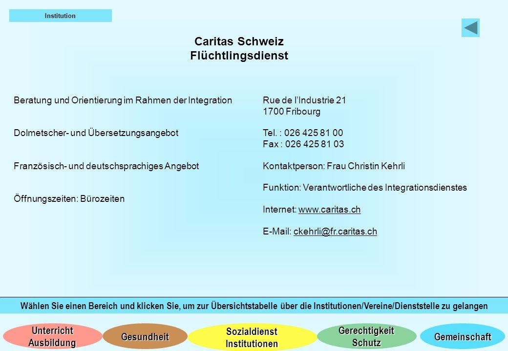 Caritas Schweiz Flüchtlingsdienst