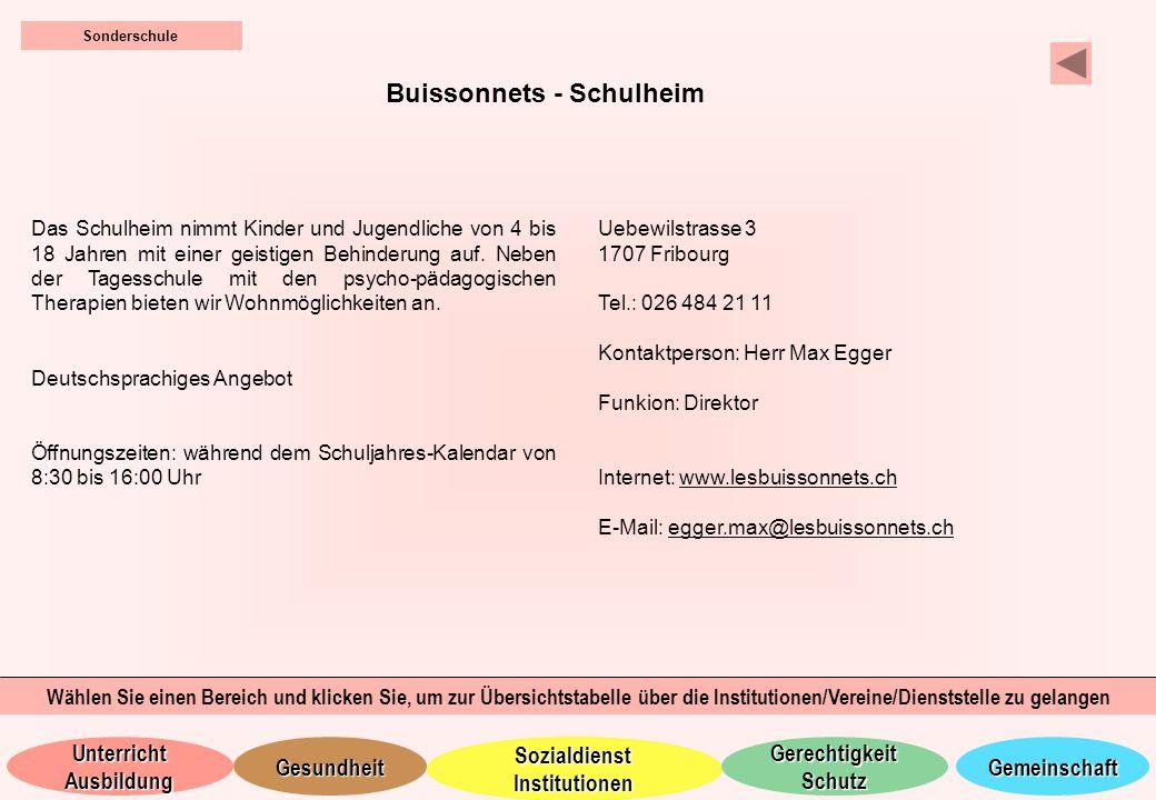 Buissonnets - Schulheim