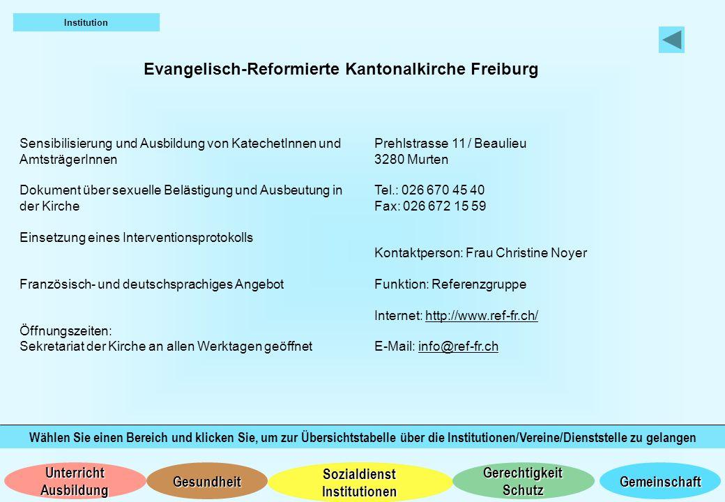 Evangelisch-Reformierte Kantonalkirche Freiburg