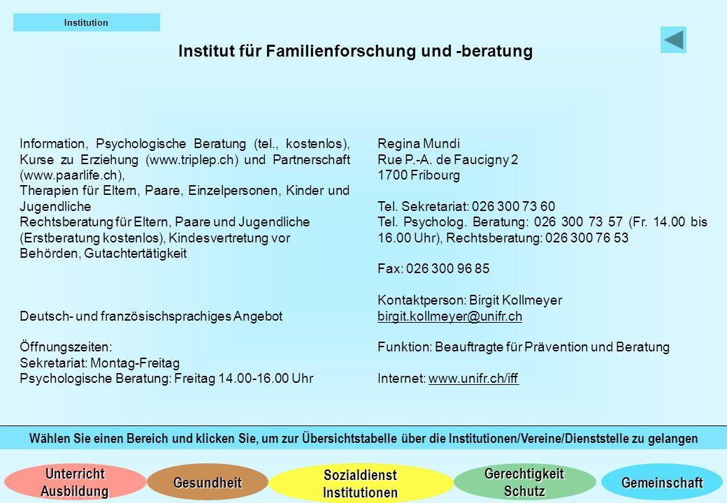 Institut für Familienforschung und -beratung