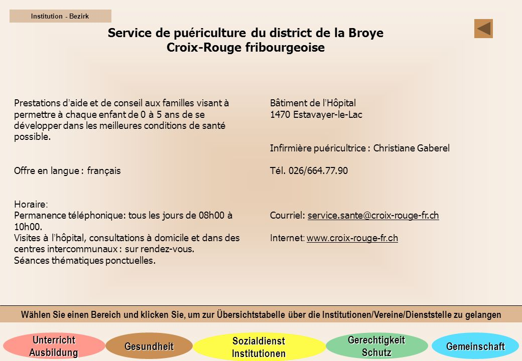 Service de puériculture du district de la Broye