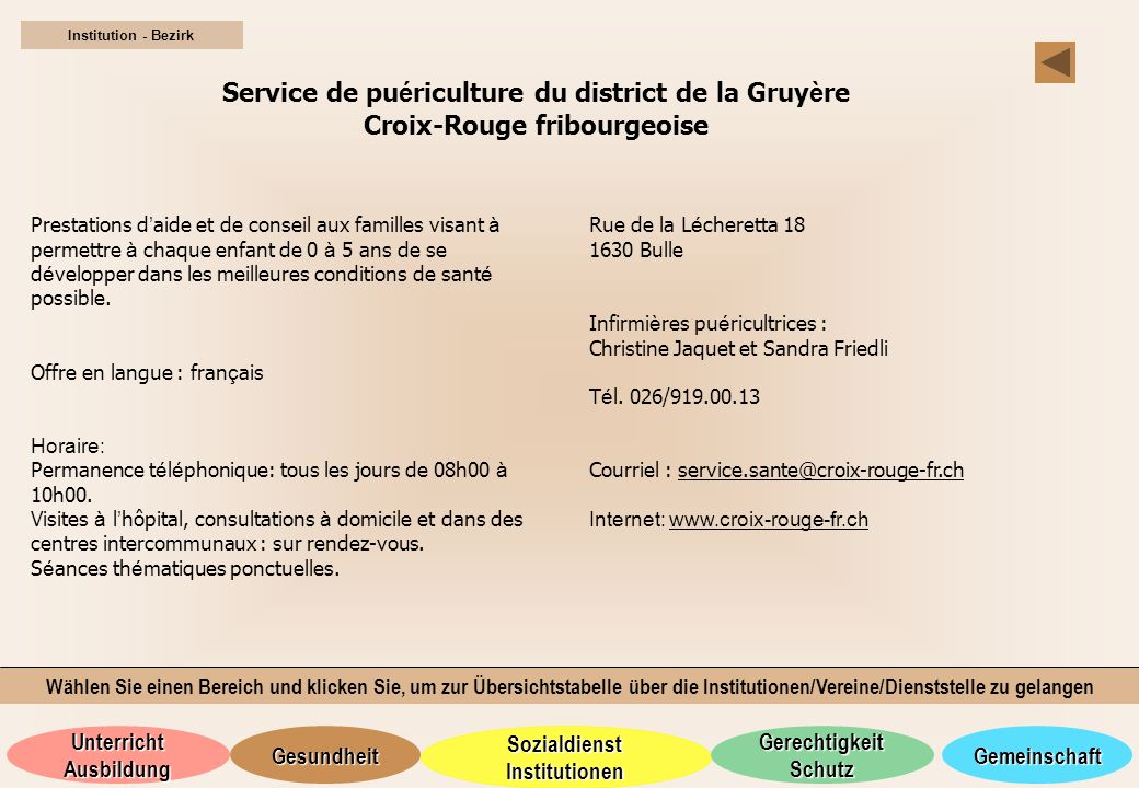 Service de puériculture du district de la Gruyère