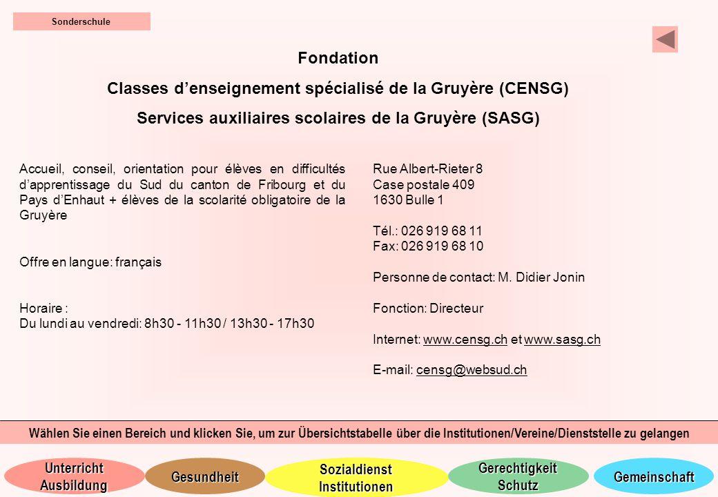 Classes d'enseignement spécialisé de la Gruyère (CENSG)
