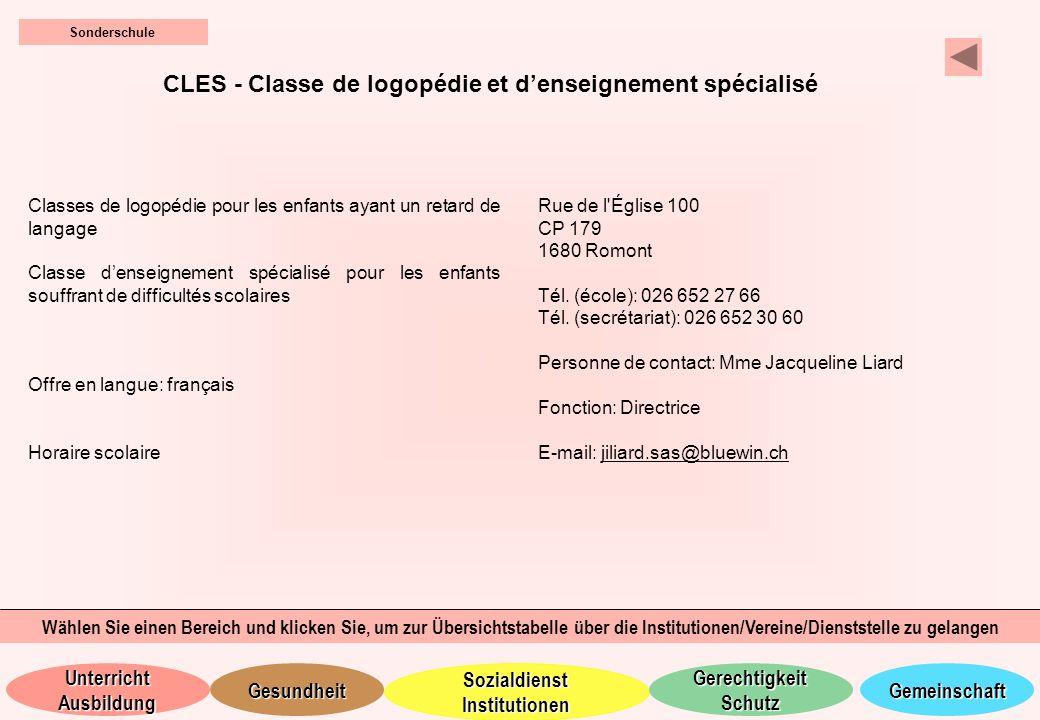 CLES - Classe de logopédie et d'enseignement spécialisé