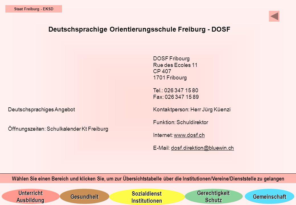 Deutschsprachige Orientierungsschule Freiburg - DOSF