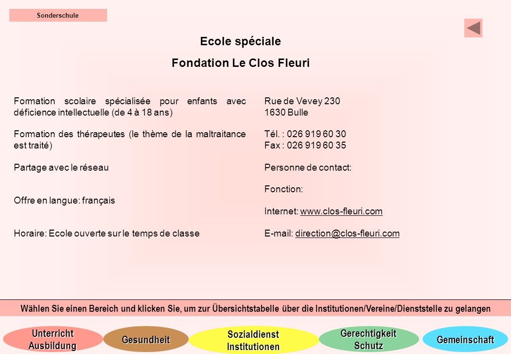 Fondation Le Clos Fleuri