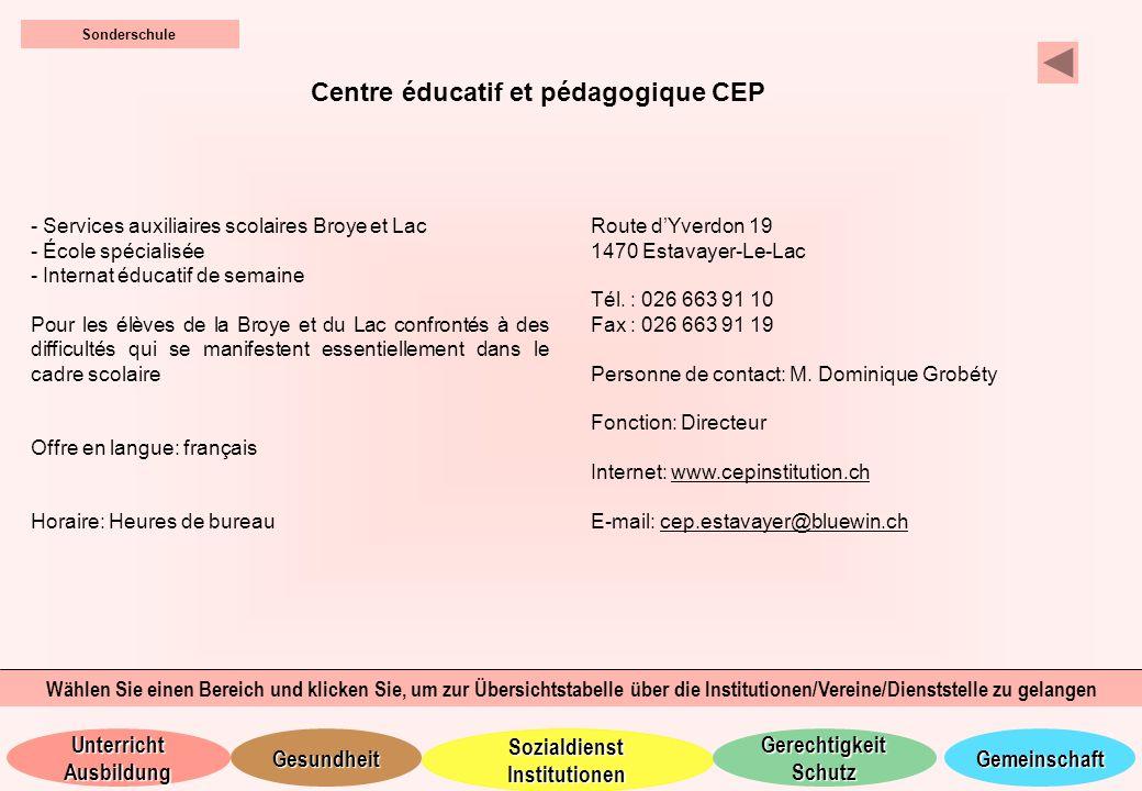 Centre éducatif et pédagogique CEP