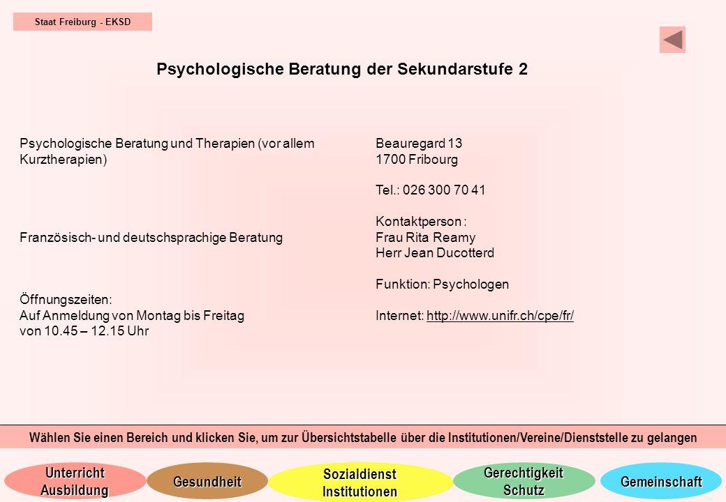 Psychologische Beratung der Sekundarstufe 2