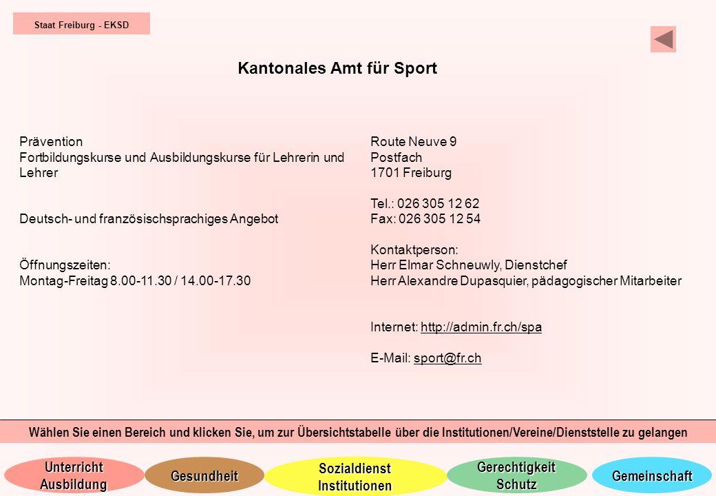 Kantonales Amt für Sport