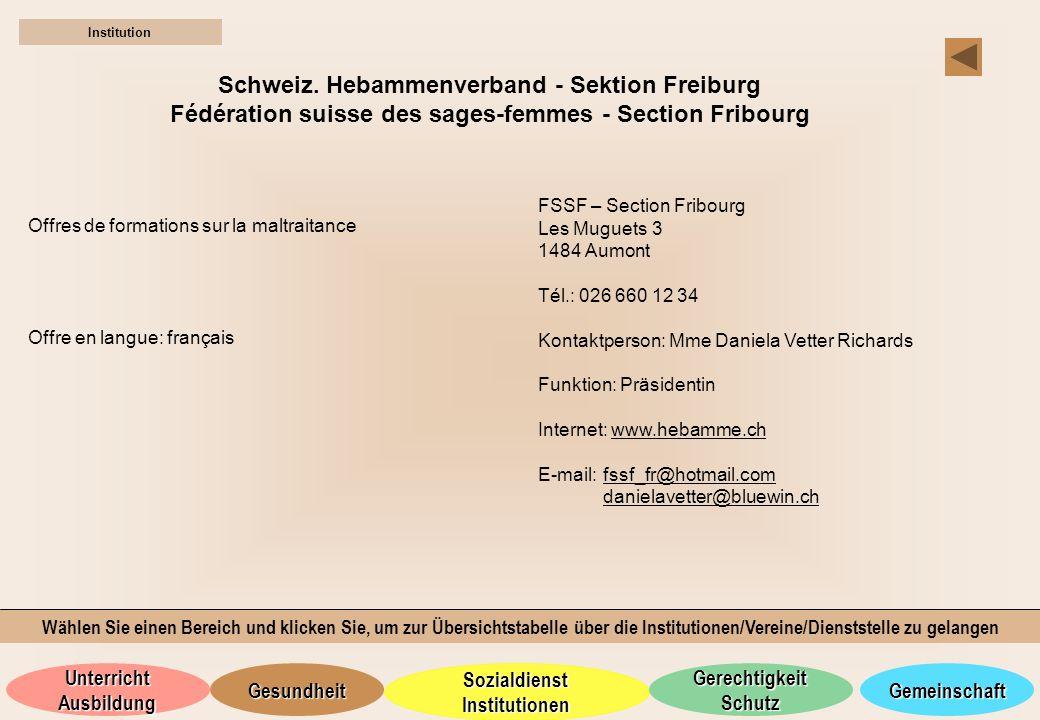 Schweiz. Hebammenverband - Sektion Freiburg