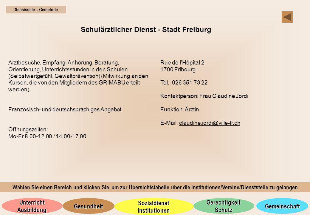 Schulärztlicher Dienst - Stadt Freiburg