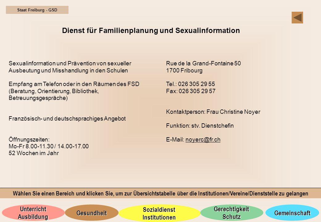 Dienst für Familienplanung und Sexualinformation