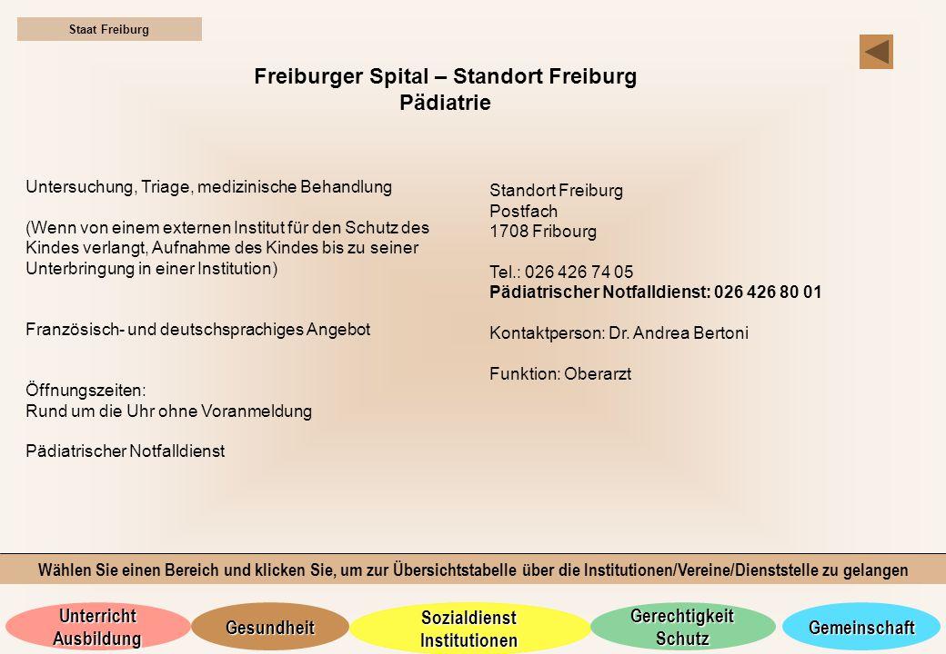 Freiburger Spital – Standort Freiburg