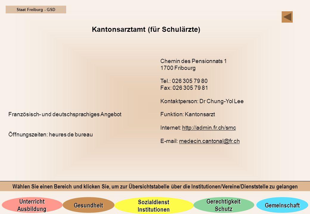 Kantonsarztamt (für Schulärzte)