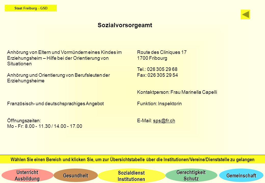 Staat Freiburg - GSD Sozialvorsorgeamt.