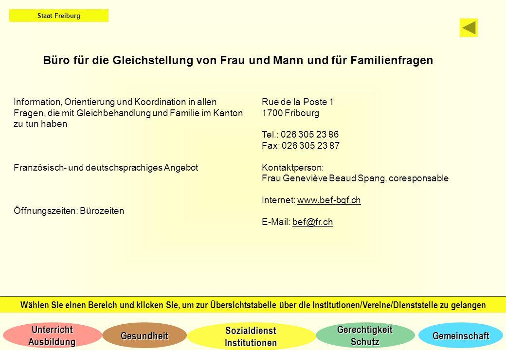 Büro für die Gleichstellung von Frau und Mann und für Familienfragen