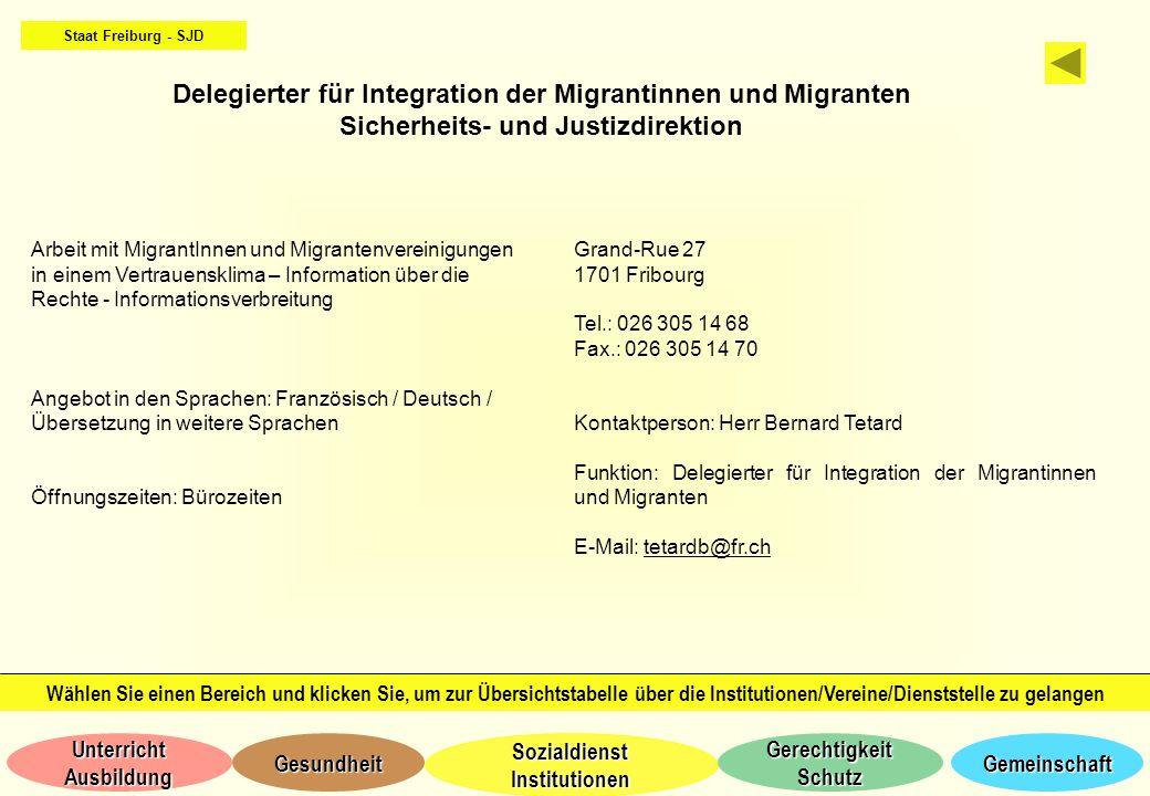 Delegierter für Integration der Migrantinnen und Migranten