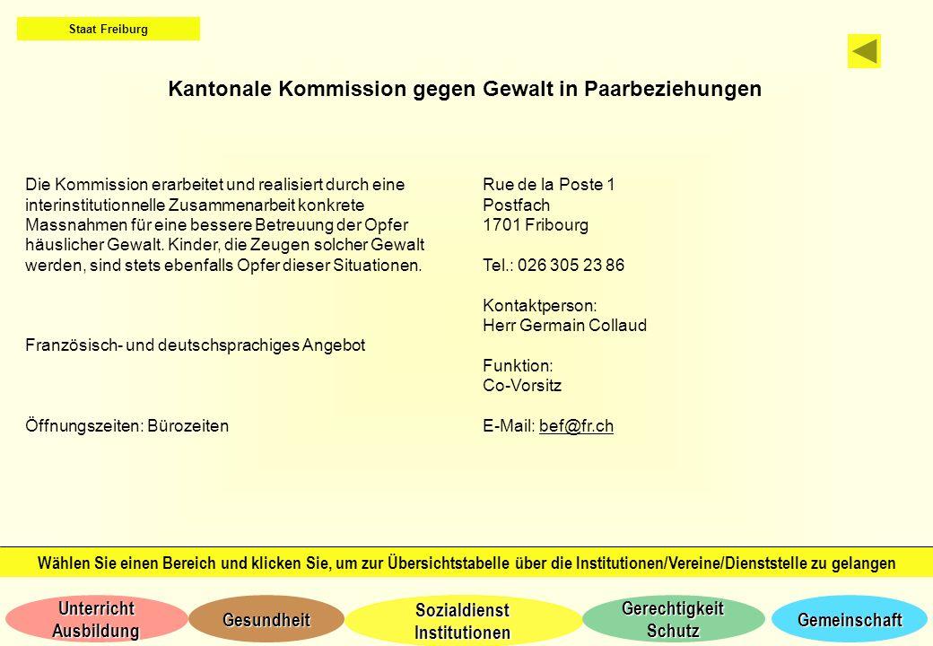 Kantonale Kommission gegen Gewalt in Paarbeziehungen