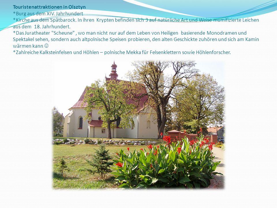 Touristenattraktionen in Olsztyn. Burg aus dem XIV. Jahrhundert