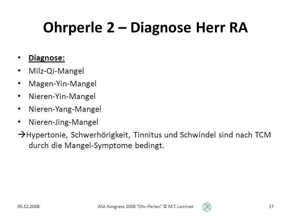 Ohrperle 2 – Diagnose Herr RA