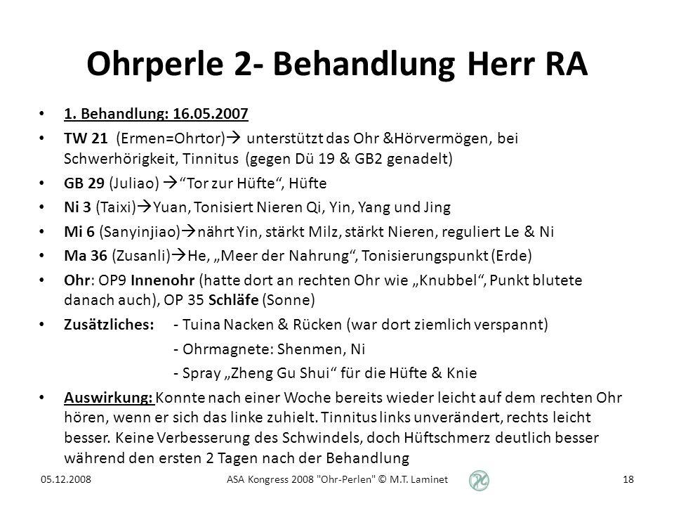 Ohrperle 2- Behandlung Herr RA