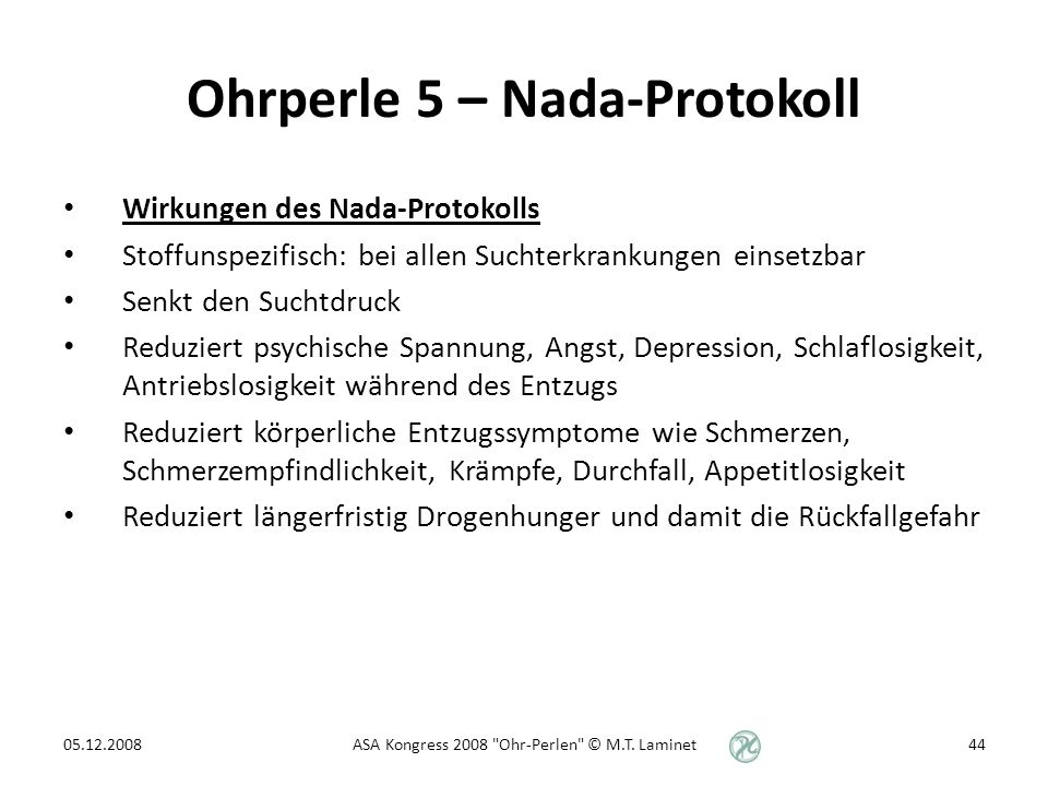 Ohrperle 5 – Nada-Protokoll