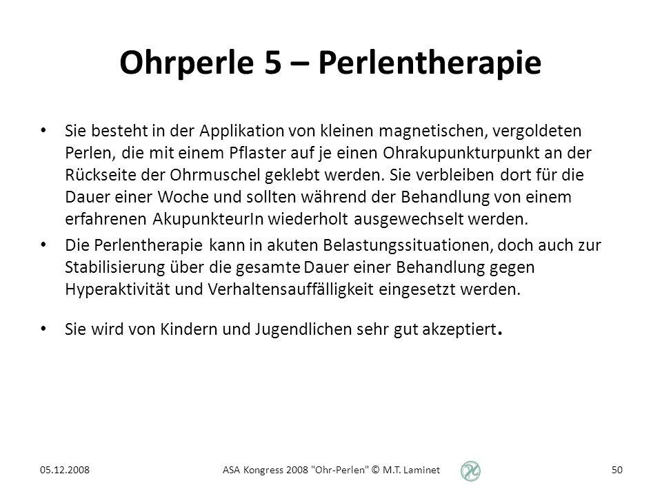 Ohrperle 5 – Perlentherapie