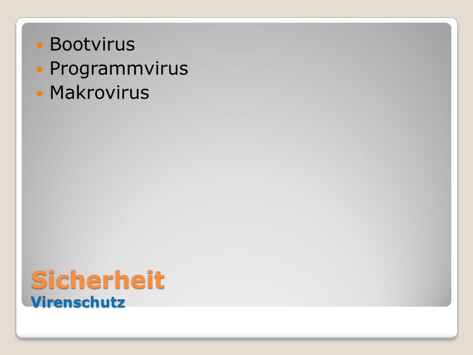 Sicherheit Virenschutz