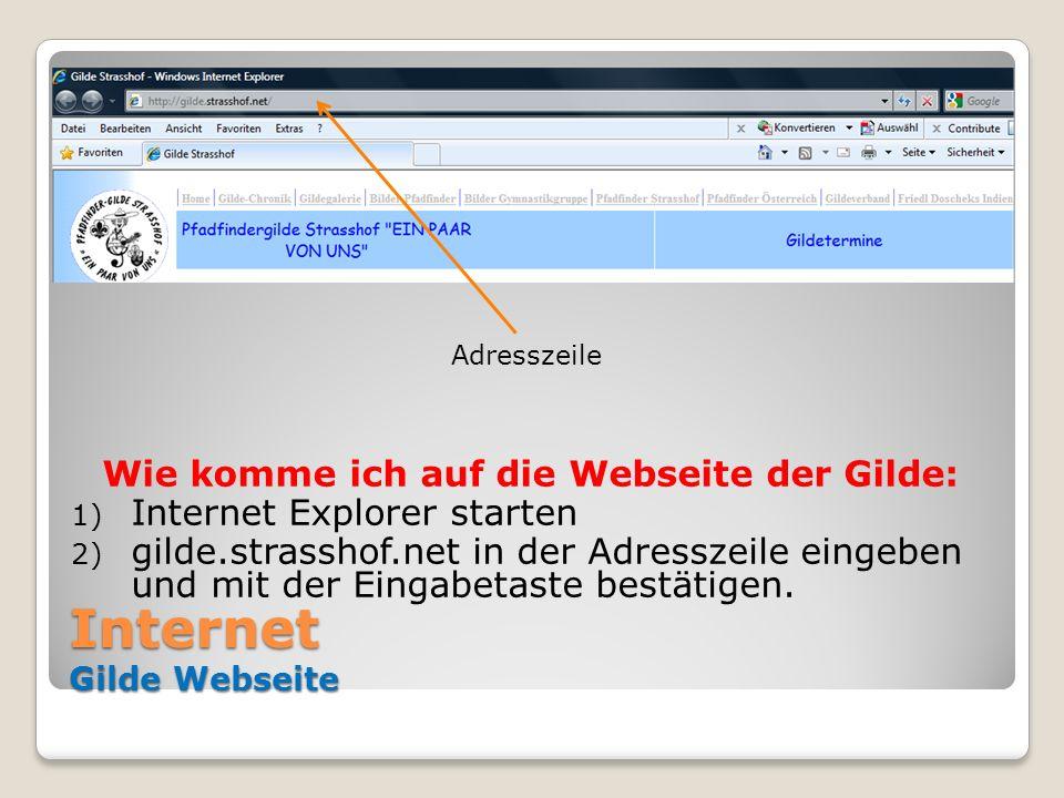 Internet Gilde Webseite