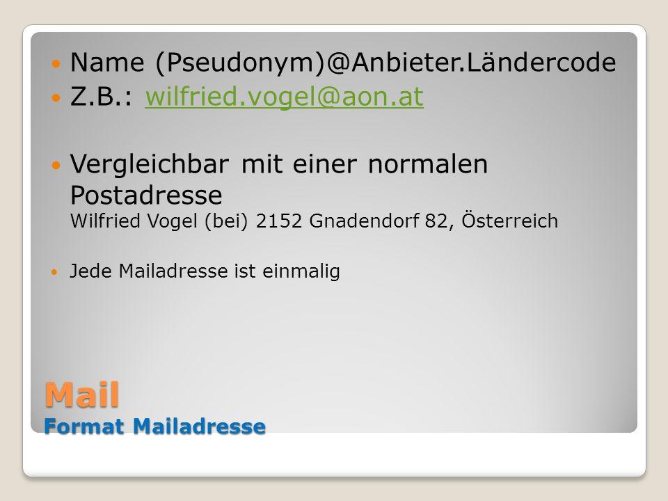 Mail Format Mailadresse