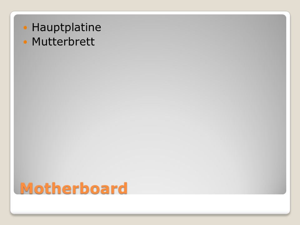 Hauptplatine Mutterbrett Motherboard