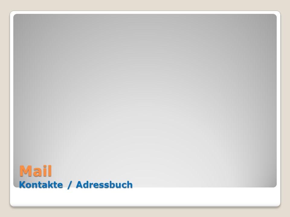 Mail Kontakte / Adressbuch
